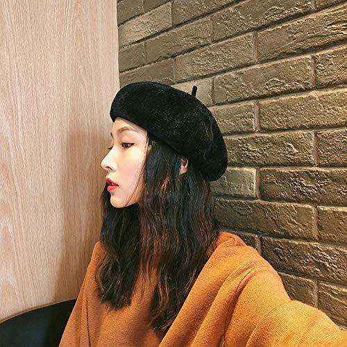 Color Retro Accesorios Beret Aihome Y Moda Cl 9 Puro Elegante Coreana Colores Tela Chenille nBX7g8X