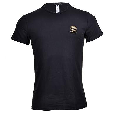 Versace - T-Shirt - Col Rond - Manches Courtes - Homme Noir Noir ... de8c68af13b