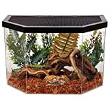 Repitat Reptile House 5 gal Flat Back Hex Acrylic Habitat with Metal Screen Top