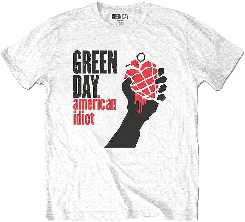 Green Day Camiseta American Idiot Blanca para Hombre: Amazon.es: Ropa y accesorios