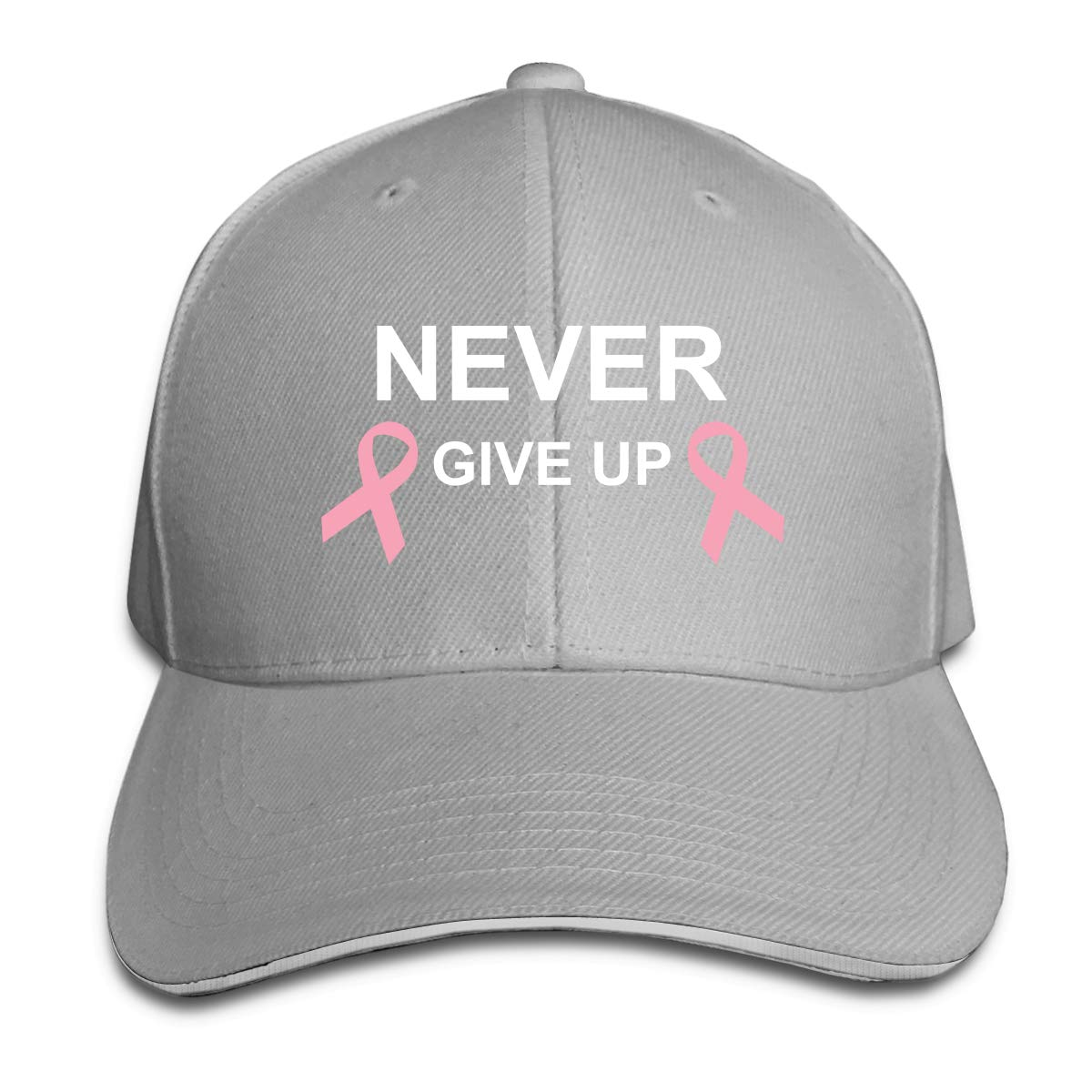 WFIRE Gorras de béisbol Adultos, Nunca te Rindas el cáncer de Mama ...