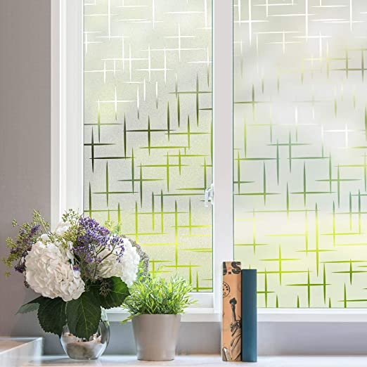 """CHOIS 014 Adhesive Film Privacy Frosted Bamboo Window Films Stickers 35/"""" Wide"""