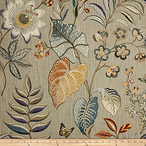 P Kaufmann Butterfly Trail Platinum Fabric by The Yard, used for sale  Delivered anywhere in USA