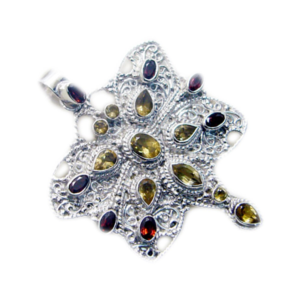 Chakra Necklace Mixed Gemstones Sterling Silver
