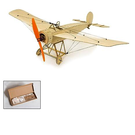 Amazon com: Balsa Wood Airplane Kit Micro 3CH 378mm Fokker Eindecker