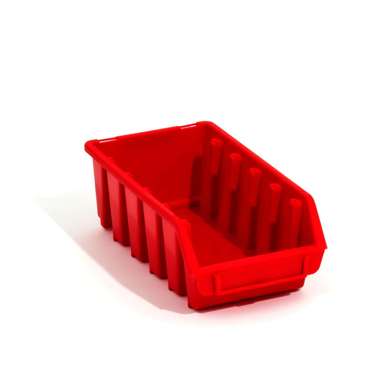 Lot de 30 boites de rangement bacs a bec en rouge ERGO-Box taille 2L Patrol