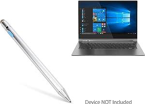 Lenovo Yoga Book C930 Stylus Pen, BoxWave [AccuPoint Active Stylus] Electronic Stylus with Ultra Fine Tip for Lenovo Yoga Book C930 - Metallic Silver