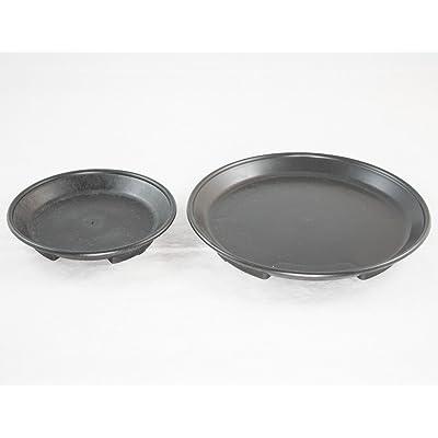 "2 Round Black Plastic Humidity/Drip Trays for Bonsai Tree 4.75"" & 7"" : Garden & Outdoor"