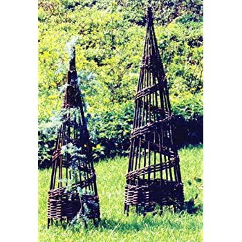 Master Garden Products Round Willow Spiral Obelisk, 12 By 36 Inch