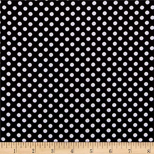 Newcastle Fabrics Polka Dot Black, Fabric by the Yard