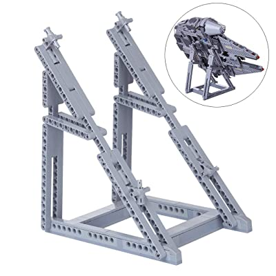 Yamix 134Pcs Building Blocks Bracket Holder Model for Lego Millennium Falcon 75257(Bracket Included Only) - Grey: Toys & Games