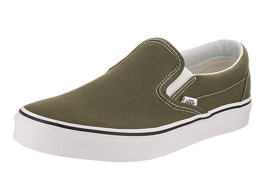 Men's Classic Slip-On Winter Moss/True White Skateboarding Shoes