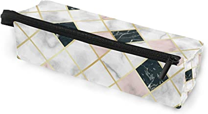 Estuche de lujo para gafas de sol de mármol geométrico portátil, caja suave para mujeres y niñas, con cremallera, bolsa de almacenamiento para lápices, color rosa, negro, blanco y piedra: Amazon.es: Oficina