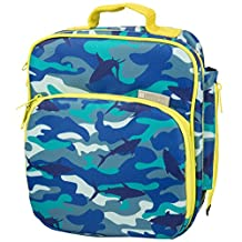 Insulated Durable Lunch Bag - Reusable Meal Tote With Handle and Pockets - Shark Camo