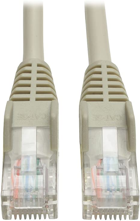 RJ45 M//M Tripp Lite Cat5e 350MHz Snagless Molded Patch Cable 20-ft. - Gray N001-020-GY