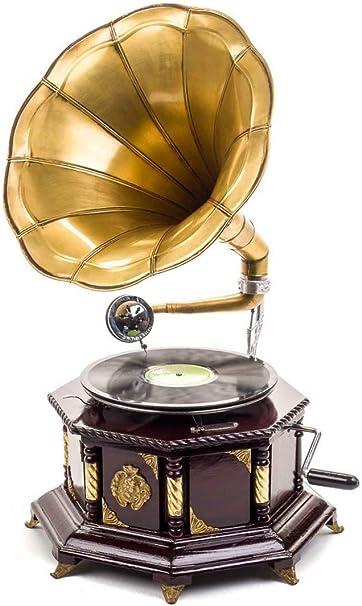 Gramófono Estilo Antiguo con bocina - para Discos de
