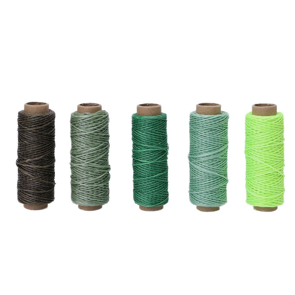 Cuoio Cucito Filo Cerato per scalpello punteruolo Scarpe Riparazione Bagagli 4# Xuniu 5 Pezzi 0.8mm Filo Cerato