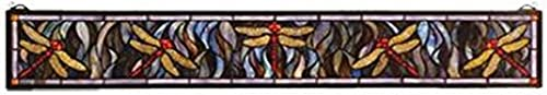 Meyda Tiffany 72896 Tiffany Dragonfly Stained Glass Window, 40 Width x 6 Height