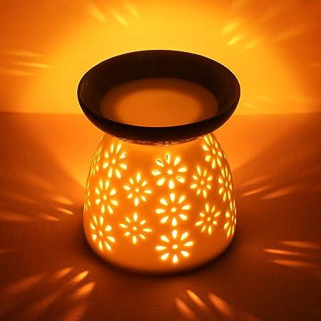 CMXING Diffusore Ceramica Diffusore a Candela, Lampada profumata Ceramic Scent Burner Aromaterapia portacandela lampade Aroma in Ceramica e Cucchiaio