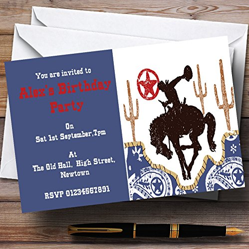 Rodeo Cowboy Theme Personalized Birthday Party (Rodeo Birthday Invitations)