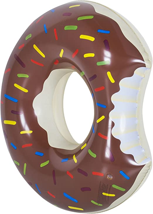Flotador en forma de donut, hinchable, 120 cm, marrón, 100 cm ...