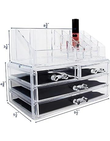 Great Ikee Design Acrylic Jewelry U0026 Cosmetic Storage Display Boxes, 9.4 X 5.4 X  7.2 Inches