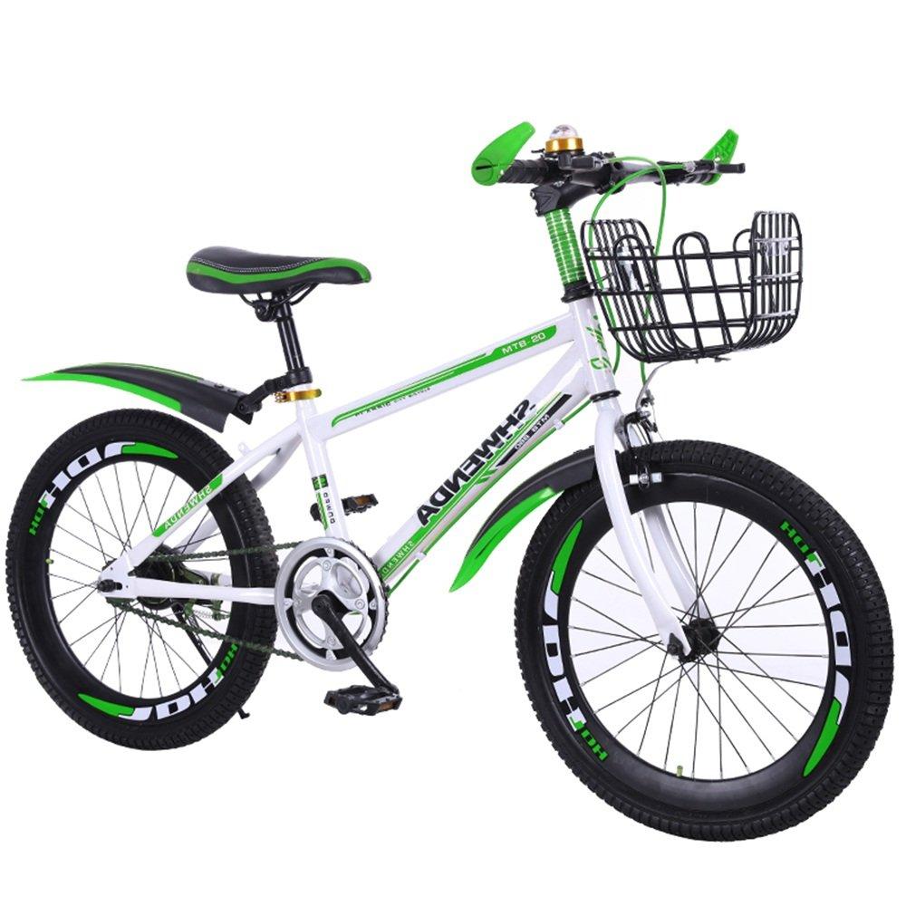 美しい 家子供用自転車20/22インチ、6-7-8-9-10-11-12-13-14歳の赤ちゃんと女の子の生徒用自転車(多色オプション) (色 : Green-A, サイズ さいず : 22 inches) B07D1P75R7 22 inches|Green-A Green-A 22 inches