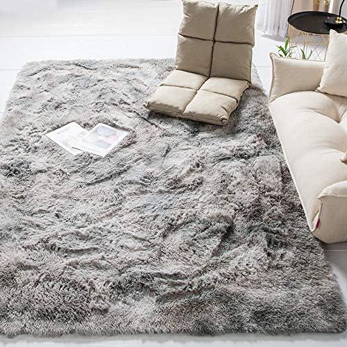 Pelo Largo Alfombra habitaci/ón Dormitorio Lavables Comedor Moderna vivero Gris 160 x 230 cm Amazinggirl alfombras Salon Grandes