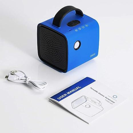 Airthereal PA50-GO G/én/érateur dozone sans fil pour voiture armoire /à chaussures et autres petits espaces bleu voyage