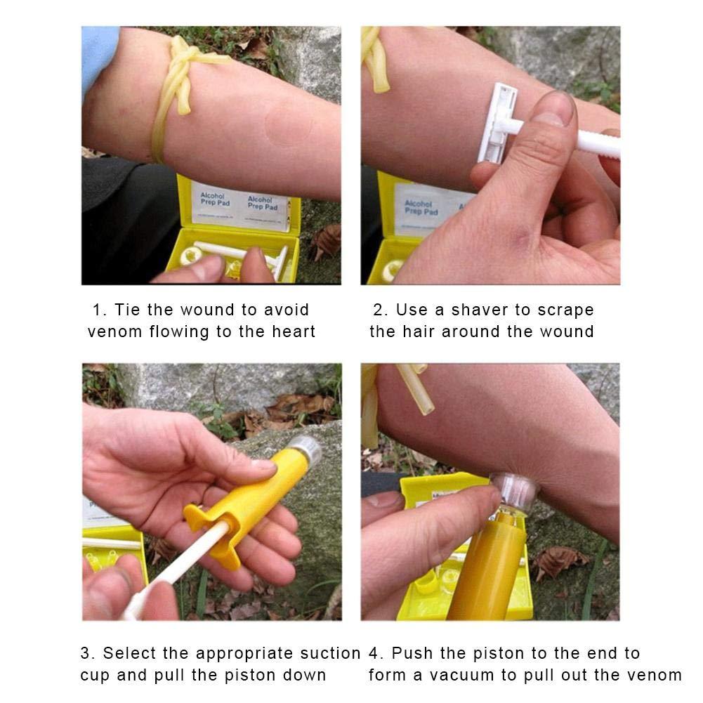 api e punture di vespe rimozione di veleni di Serpente per Esterni Kit per estrattore di veleni per veleni di Emergenza punture di zanzare Berkemoon