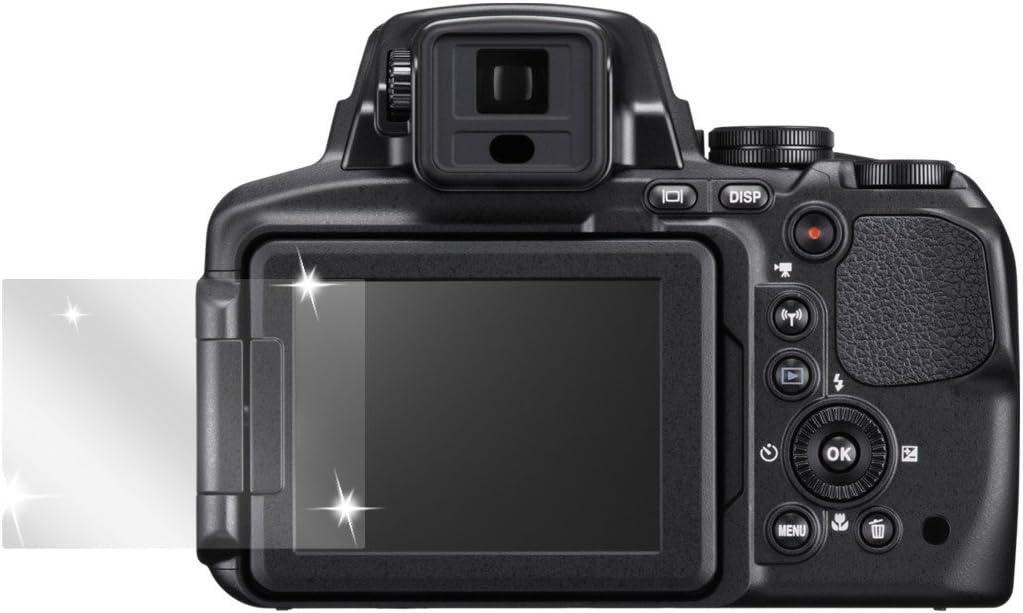 2x lámina protector de pantalla claro para Nikon Coolpix p900 lámina protectora protector de pantalla