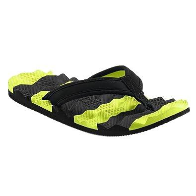 a6de6103995 Tek Gear Boys Textured Athletic Flip-Flops Sandals (Medium 3 4