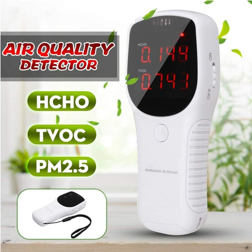 housesweet Air Quality Monitor Formaldehyde Detector Tester Pollution Meter Indoor Pollution Sensor HCHO TVOC PM2.5 PM10