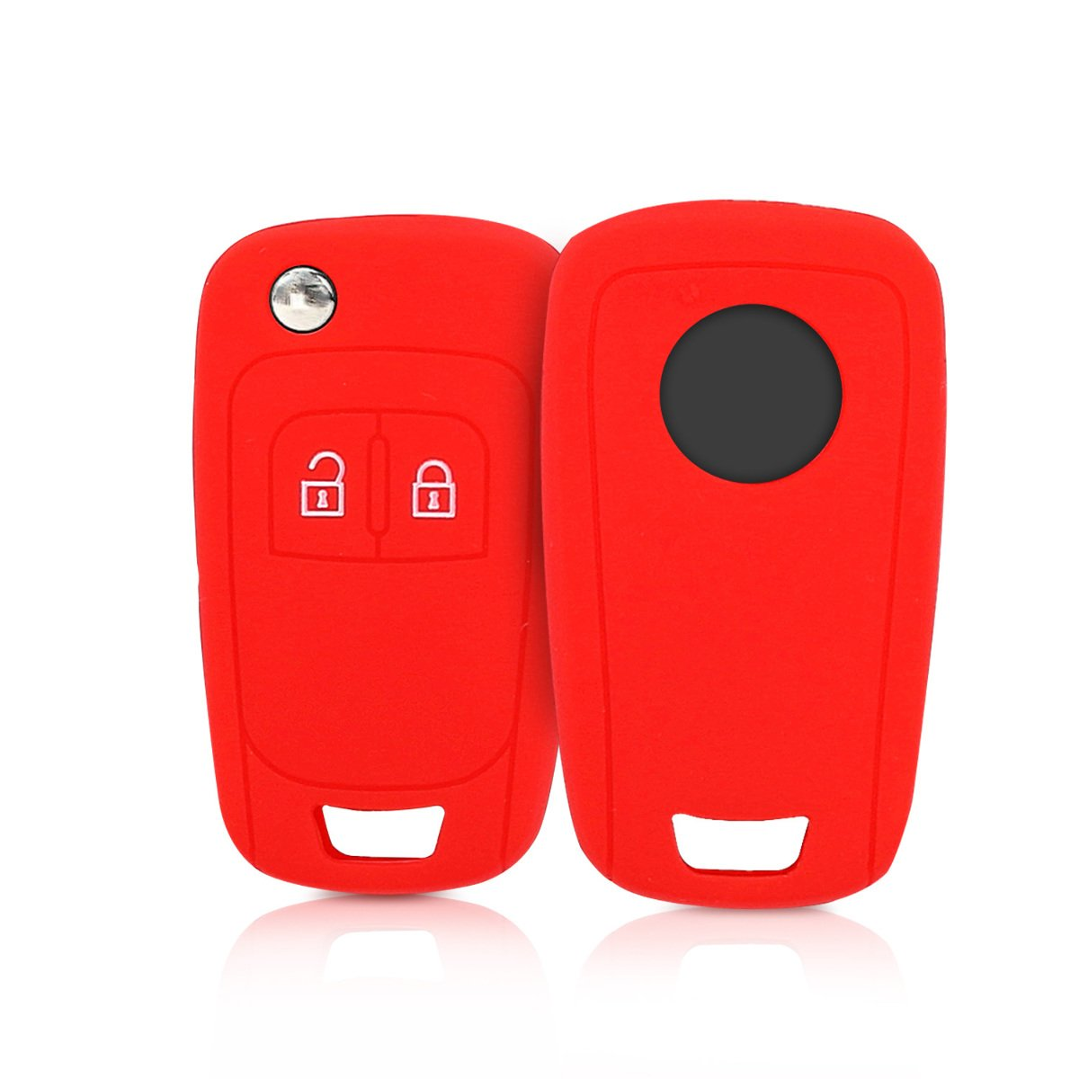 Silicone Protective Key Fob Cover for Opel 2 Button Car Flip Key kwmobile Car Key Cover for Opel Black//White//White