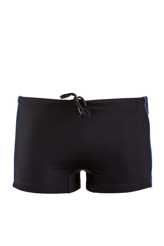 baef58a947 Just Cavalli Men Black Square Swim Shorts Stretch Beach Boxer Briefs  Swimsuit S | Amazon.com