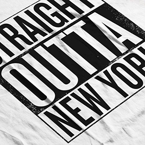 Women's Us York New Sweatshirt White Outta Text Coto7 Black States Straight fwOPP6