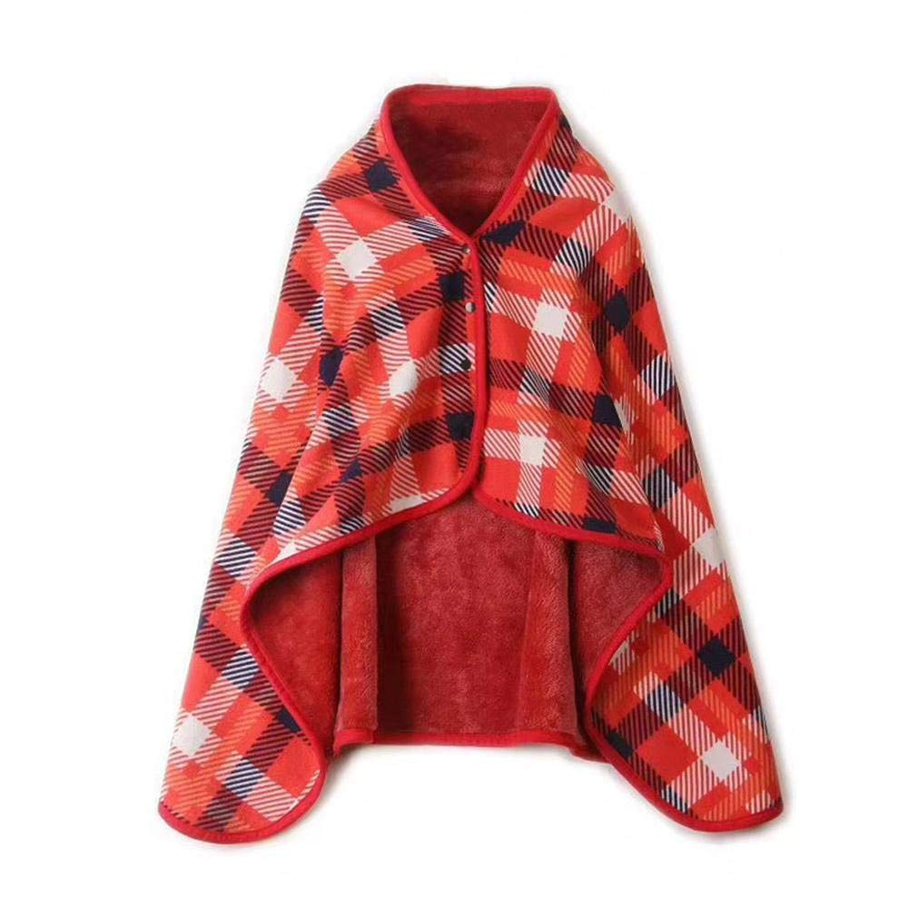 A Gallity Faux Fur Sherpa Flannel Throw Blanket Button Wrap Shawl,Multifunction Sofa Car Chair Bedding for Women Girl Gift Household Velvet Clothes