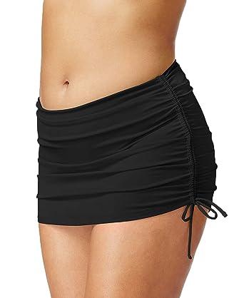 e9f072a2c32ed Image Unavailable. Image not available for. Color: Island Escape Plus Size  Side-Tie Swim Skirt