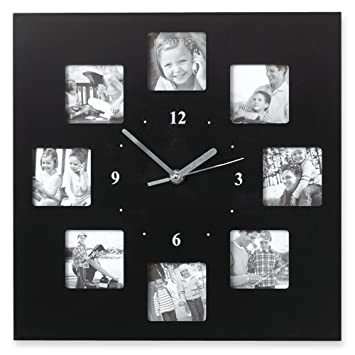 Buy Black 12 Inch Photo Collage Frame Wall Clock Online at Low