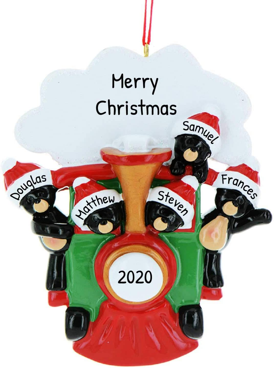Volunteering At Christmas For Foster Children 2020 Amazon.com: Personalized All Aboard Family of 3 Christmas Tree