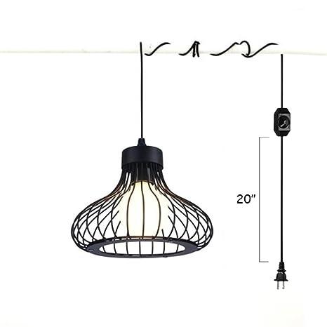Amazon kiven retro iron art pendant lights ul extension hanging kiven retro iron art pendant lights ul extension hanging lantern cord cable 15ft with e26 e27 aloadofball Gallery