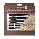 William Mitchell Complete 3 Pen Script Calligraphy Gift Set ● 17-piece gift set ● Free-flowing pens designed for right-handed writers ● Suitable for all levels