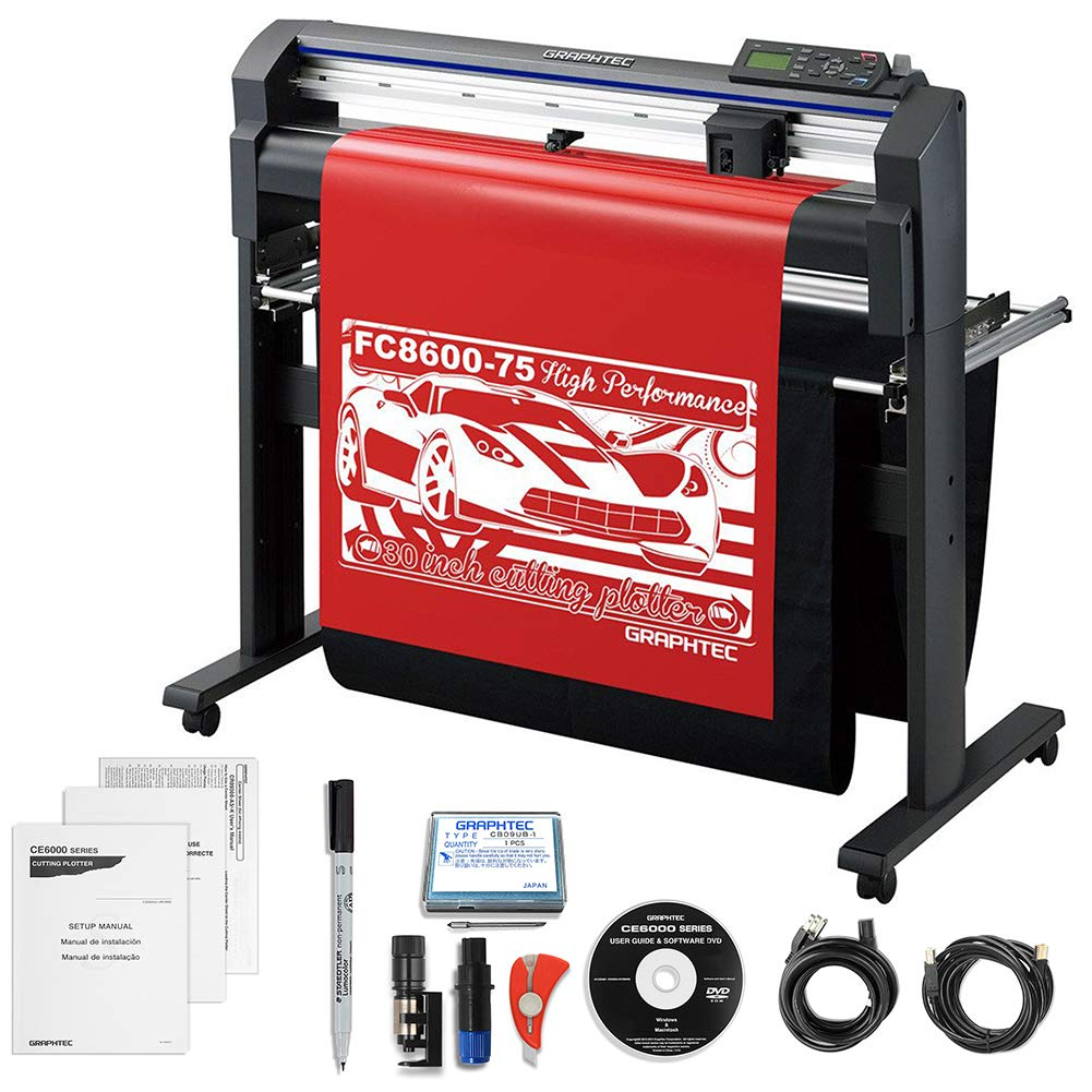 Graphtec Professional FC 8600-75 30'' Vinyl Cutter with $700 in Software & 3 Year Warranty by Graphtec