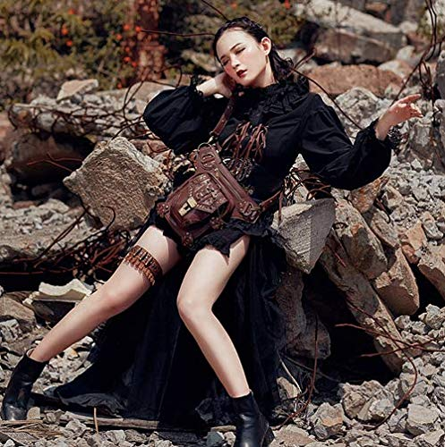 Femme Hanche épaule de Steampunk Mode li Homme Poches rétro pour extérieur Shu zxqpIUfw0