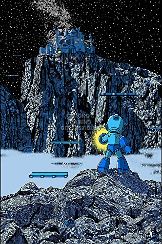 CGC Huge Poster GLOSSY FINISH - Mega Man Willy's Castle Art Original Nintendo NES Megaman Rockman - EXT831 (24