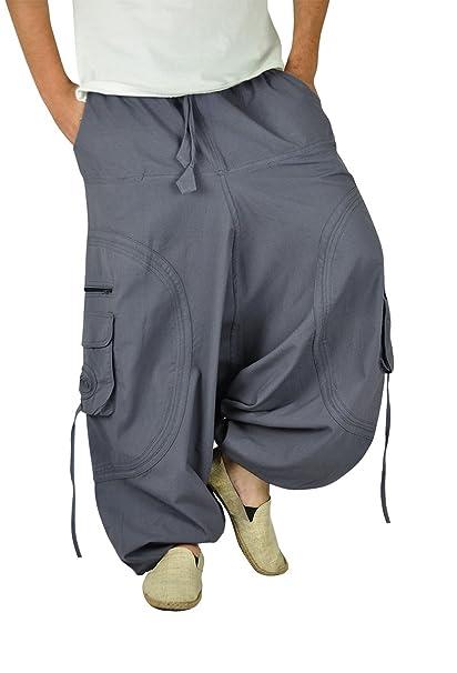 pantalones cagados GOA muy cómodos entrepierna caída para hombres y mujeres  como ropa hippie de virblatt M - XL- Abgefahren Gr  Amazon.es  Ropa y  accesorios bc3e570a9731