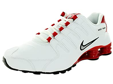 online store bc250 b89e2 Nike Men's Shox NZ White/Red 378341-110