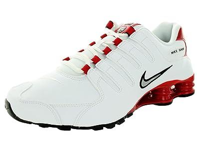 online store e6235 965ac Nike Men's Shox NZ White/Red 378341-110