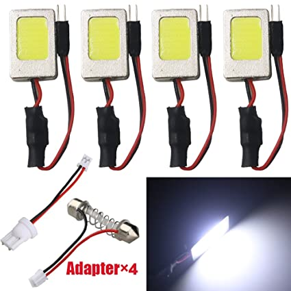6X T10 194 168 2835 12SMD Car LED Canbus Error Free Width Door Map Light Bulbs