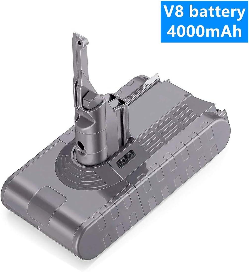 VANON Batería de Repuesto 21.6V 4000mAh para Dyson V8 Absolute V8 Fluffy V8 Animal SV10 Aspiradora de Mano sin Cable, batería de Ion de Litio